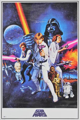 James Earl Jones Star Wars Signed 24x36 Poster Autographed BAS #E44393