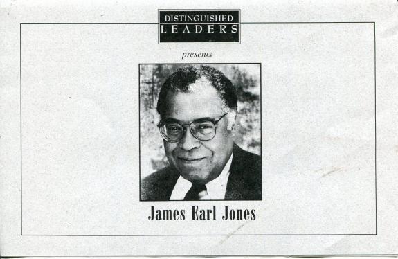 James Earl Jones Star Wars Star Distinguish Leaders Colorado State Event Program