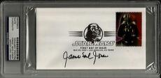 James Earl Jones STAR WARS VADER Signed FDC Envelope Cachet PSA/DNA Slabbed