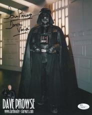 Autographed Dave Jones Photo - JAMES EARL + PROWSE 8x10 COLOR +COA DARTH VADER