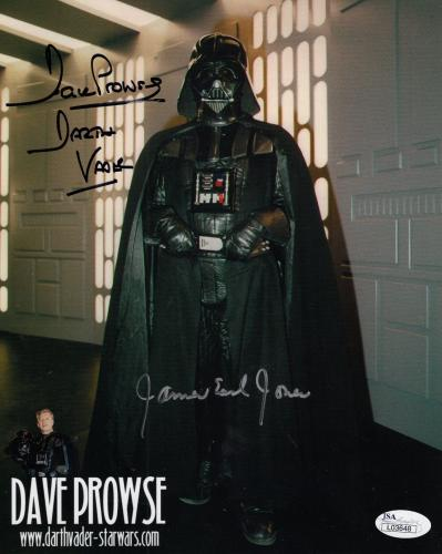 JAMES EARL JONES+DAVE PROWSE HAND SIGNED 8x10 PHOTO    RARE   DARTH VADER    JSA