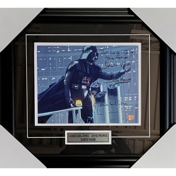 James Earl Jones/David Prowse Framed Autographed Star Wars 8X10 Photo