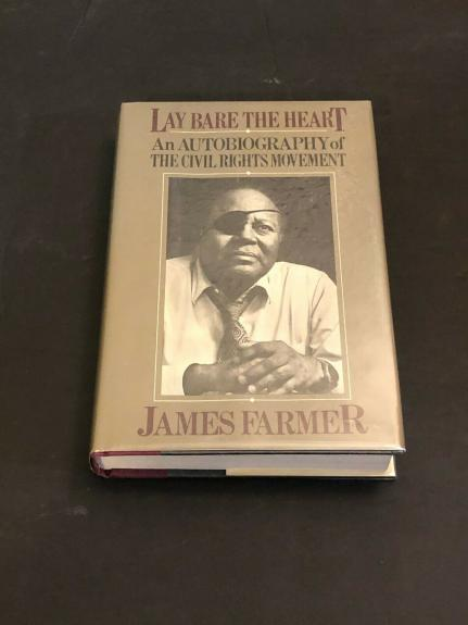 James Farmer Civil Rights Leader Signed Autograph 1st Edition Hardback Book