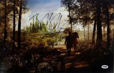 James Franco Bruce Campbell Braff OZ The Great And Powerful Signed Photo PSA