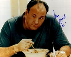 "James Gandolfini Autographed 16"" x 20"" Sopranos Photograph - JSA"