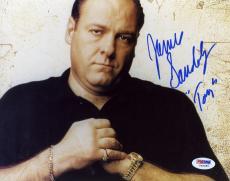 "James Gandolfini Autographed 8""x 10"" The Sopranos Hands Clinched Photograph With Tony Inscription - PSA/DNA COA"