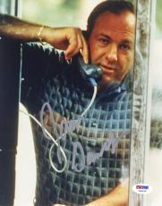 "James Gandolfini Autographed 8""x 10"" The Sopranos In Phone Booth Photograph With Silver Ink - PSA/DNA COA"