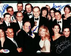 James Gandolfini, David Proval & 2 Others Autographed Signed 8x10 Photo PSA/DNA