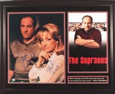 "James Gandolfini & Edie Falco 16x20 Autographed Framed ""sopranos"" Photo Psa Loa"