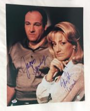 James Gandolfini & Edie Falco Signed 16x20 photo autographed Sopranos Psa LOA