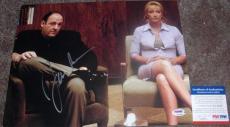 James Gandolfini Edie Falco Signed Sopranos 11x14 PSA