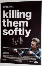 JAMES GANDOLFINI + Liotta Dual Signed 12x18 Killing Them Softly Poster Photo PSA