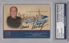 James Gandolfini Psa/dna Signed 2004 Donruss Elite Fans Of The Game Card