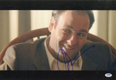 James Gandolfini Autographed Picture - 12x18 Tony The Sopranos PSA DNA