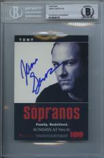 James Gandolfini Signed 4x6 Promo Postcard The Sopranos Encapsulated Beckett Bas