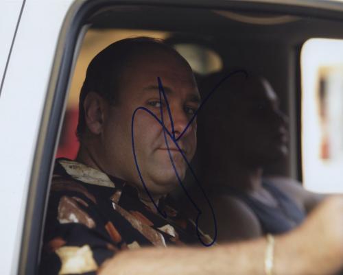 James Gandolfini Signed Autographed The Sopranos Color Photo Rip!!!