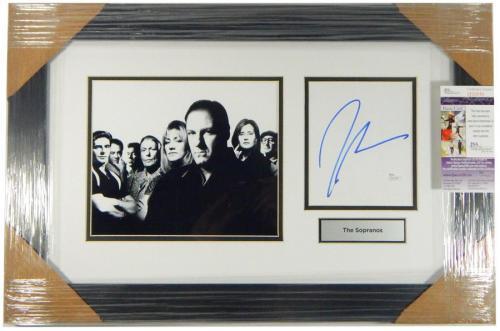 James Gandolfini Signed Display Piece The Sopranos Framed Matted JSA Auto