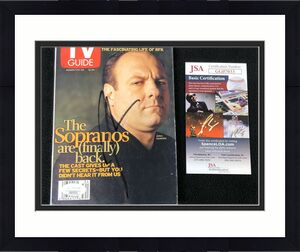 James Gandolfini Signed Sopranos TV Guide Magazine JSA COA