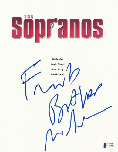 James Gandolfini Signed The Sopranos Full Pilot Script Screenplay Auto Beckett