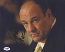 James Gandolfini Sopranos Autographed Signed 8x10 Photo Certified PSA/DNA COA