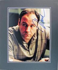 James Gandolfini The Sopranos Signed & Matted 11x14 Photo Jsa #e90207