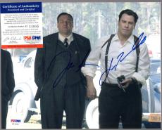 James Gandolfini/john Travolta Signed Autographed 8x10 Photo Psa/dna #h11905