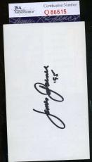 James Garner Jsa Hand Signed Album Page Authentic Autograph