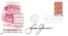 JAMES GARNER Signed 3X6 First Day Issue Navajo Art  Stamped Envelope JSA