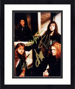 James Hetfield, Lars Ulrich, Kirk Hammett, and Jason Newsted Signed - Autographed METALLICA 8x10 inch Photo - Guaranteed to pass BAS