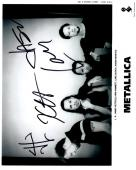 James Hetfield, Lars Ulrich, Kirk Hammett, and Jason Newsted Signed - Autographed METALLICA 8x10 inch Photo - Guaranteed to pass PSA or JSA