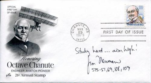 James Jim Newman NASA STS Astronaut Space Signed Autograph FDC