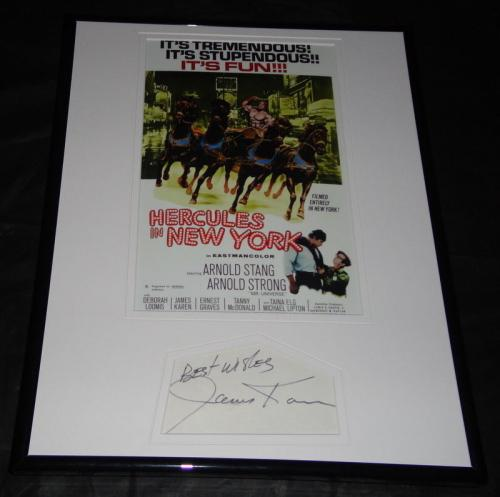 James Karen Signed Framed 11x14 Hercules in New York Poster Display
