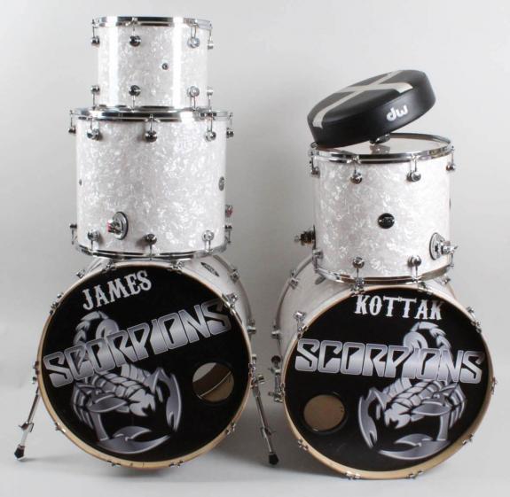 James Kottak Stage-Used Scorpions Drum Set Kit 2015-16 Tour COA JAMES KOTTAK