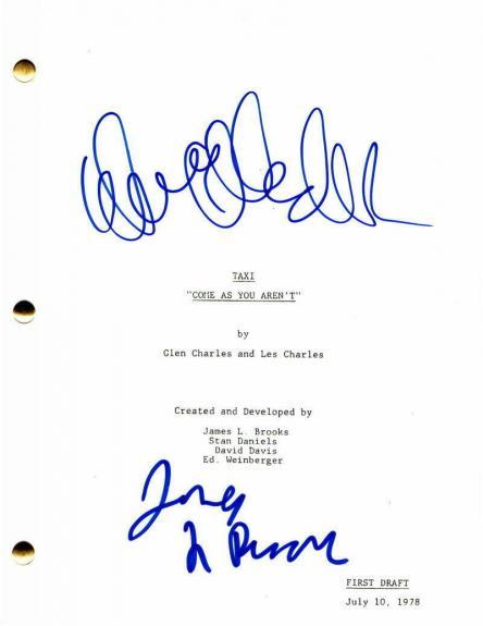 James L Brooks & Danny Devito Signed Autograph - Taxi Full Episode Script