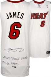 LeBron James Miami Heat Autographed Adidas Jersey with 13 Finals MVP 25.3 PPG Inscription-Limited Edition of 25