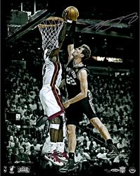 LeBron James Miami Heat 2013 Back to Back Autographed 16'' x 20'' The Block Photograph-Limited Edition of 100 - Mounted Memories