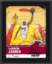 LeBron James Miami Heat Sublimated 10.5'' x 13'' Plaque - Mounted Memories