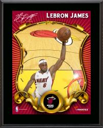 LeBron James Miami Heat Sublimated 10.5'' x 13'' Stylized Plaque - Mounted Memories