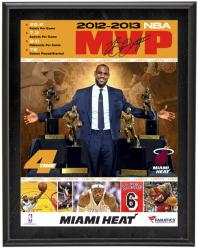 LeBron James Miami Heat 2012-2013 NBA MVP Sublimated 10'' x 13'' Plaque - Mounted Memories