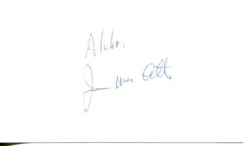 James Macarthur Hawaii Five-o & Walt Disney Movie Actor Signed Card Autograph