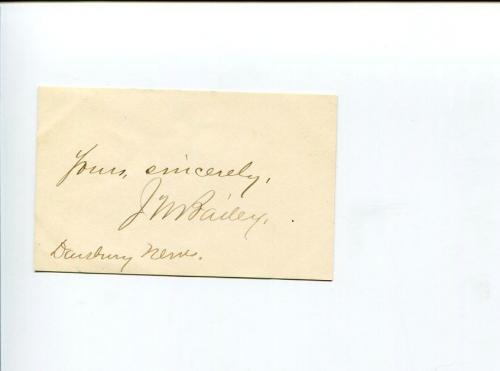 James Montgomery Bailey Author Dansbury News Man Journalist Signed Autograph