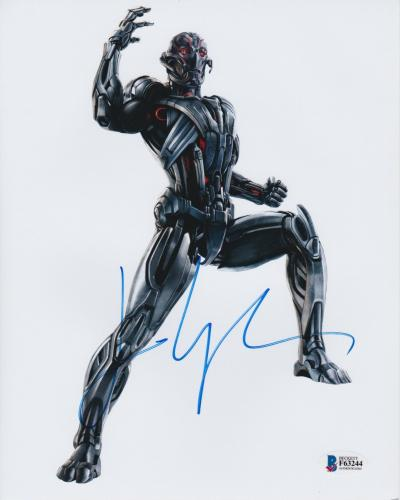 James Spader Signed 8x10 Photo Avengers Ultron Beckett Bas Autograph Auto Coa Ac
