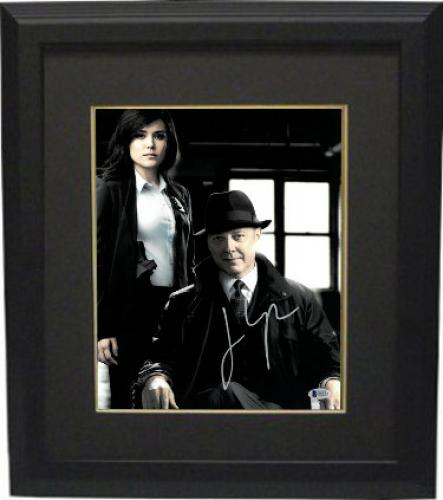 James Spader signed The Blacklist Red Reddington 11x14 Photo Custom Framed (with Co-Star Boone)- Beckett Holo #C88542