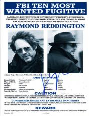 James Spader The Blacklist Signed Prop Replica Flyer Authentic Autograph Red Coa