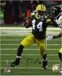 James Starks Green Bay Packers Super Bowl XLV Autographed 8'' x 10'' Photograph  - Mounted Memories