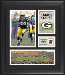 James Starks Green Bay Packers Framed 15'' x 17'' Collage with Game-Used Football