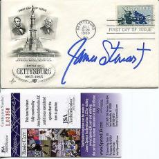 James Stewart Hand Signed 1963 Gettysburg First Day Cover    Awesome+rare    Jsa