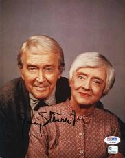 James Stewart Signed 8x10 Photo With Bette Davis Psa/dna U14395