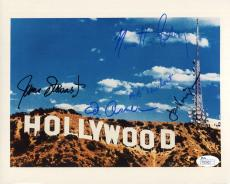 JAMES STEWART+ED ASNER+JON VOIGHT+NEWHART+FABRAY HAND SIGNED 8x10 PHOTO      JSA