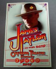 James Taylor Another Planet Enter. Poster Signed By Famous Artist Randy Tuten